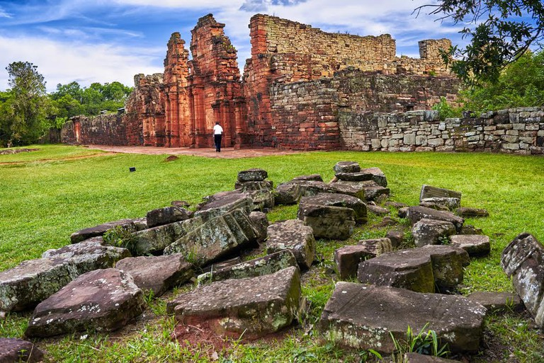 Jesuit ruins as part of a UNESCO World Heritage Site, Misiones, Argentina