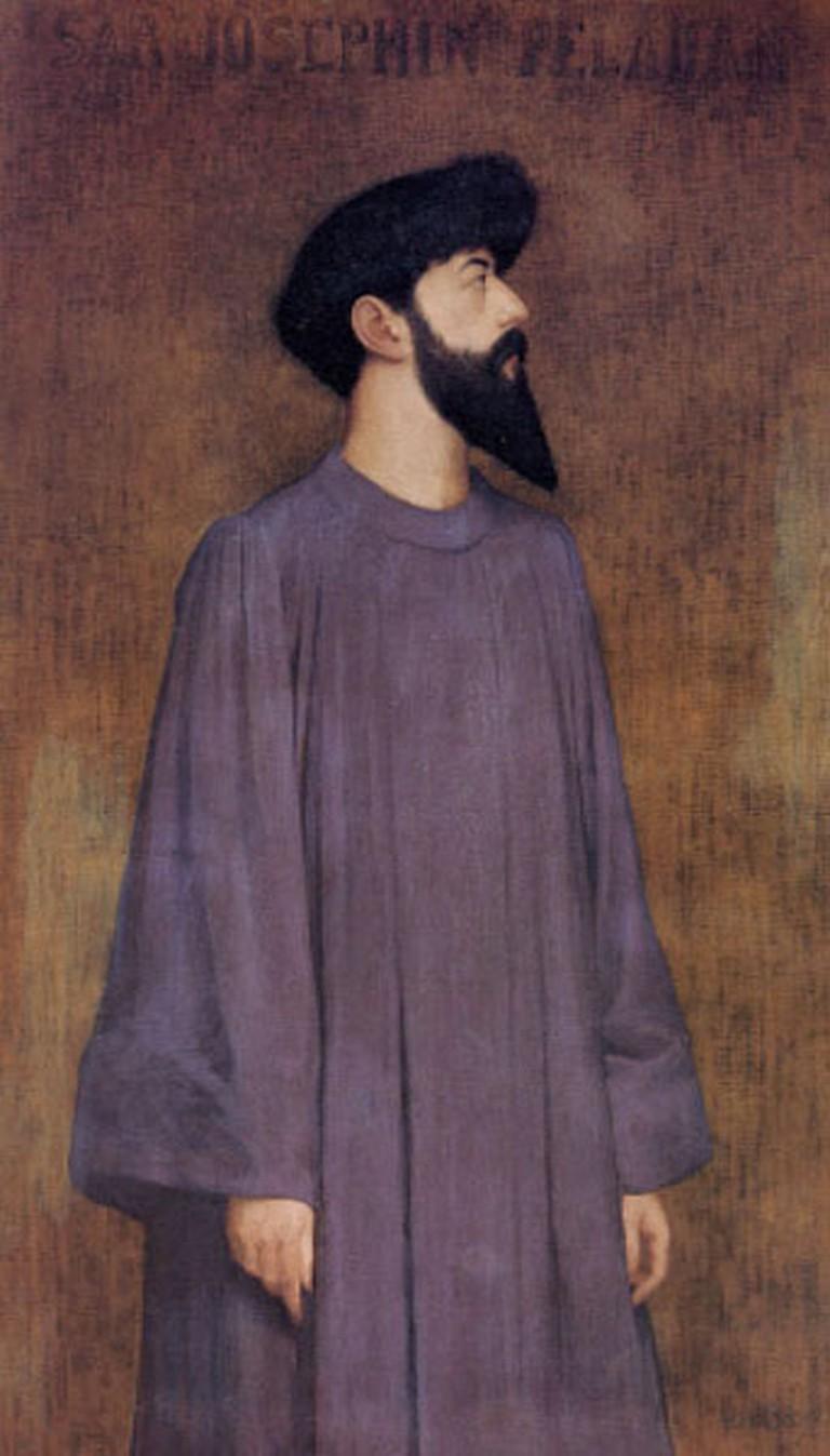 Alexandre Séon, 'Portrait de Joséphin Peladan' (1858-1918) | Via artstoryarchive.com/WikiCommons