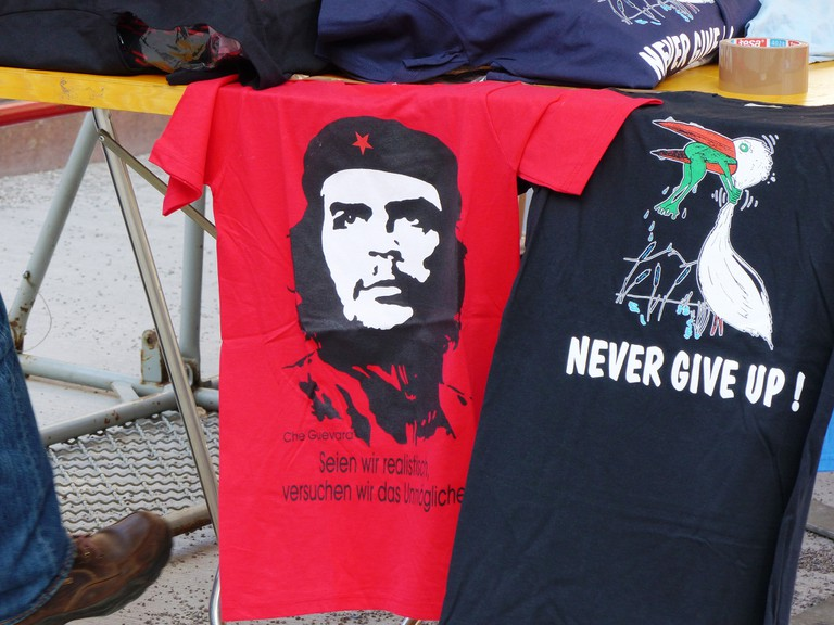 Che Guevara merchandising….sort of opposed to his anti-capitalist views