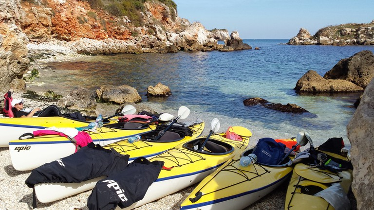 Kayaking near Tyulenovo