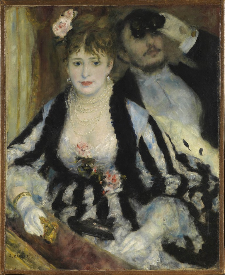 La Loge (The Theatre Box), Pierre-Auguste Renoir, 1874 | © The Samuel Courtauld Trust, The Courtauld Gallery, London