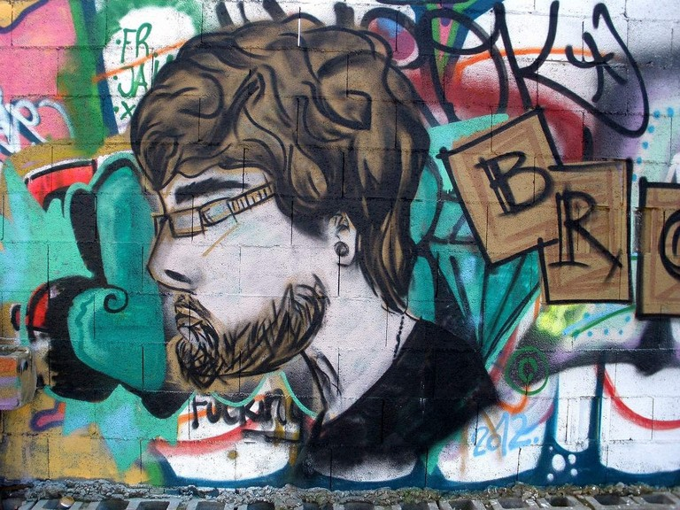 Graffiti man in Deusto, Bilbao | CC0 / Pixabay