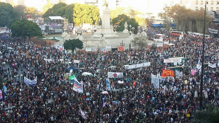 The first march of #NiUnaMenos in Buenos Aires, June 2015