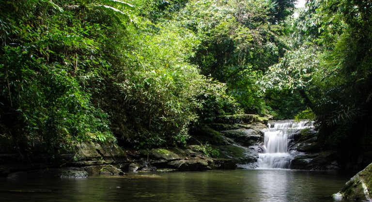 Waterfalls in Mawlynnong