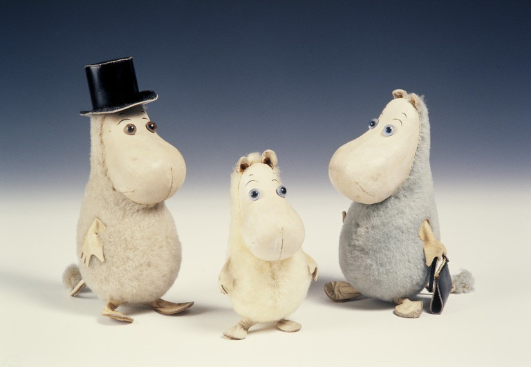 Moomin toys from the 1950s / Helsinki City Museum / WikiCommons