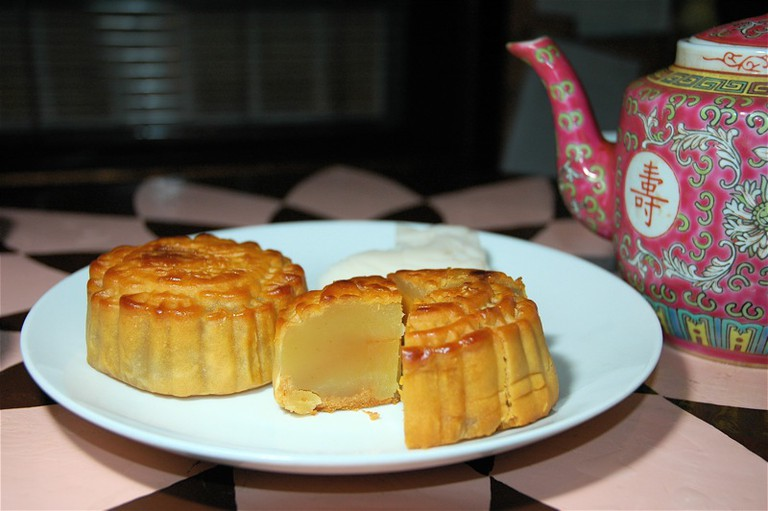 Mooncake and Chinese tea I