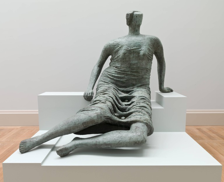 Henry Moore, Draped Seated Woman, 1957-8. Lent from a private collection 1989. On long term loan to Tate