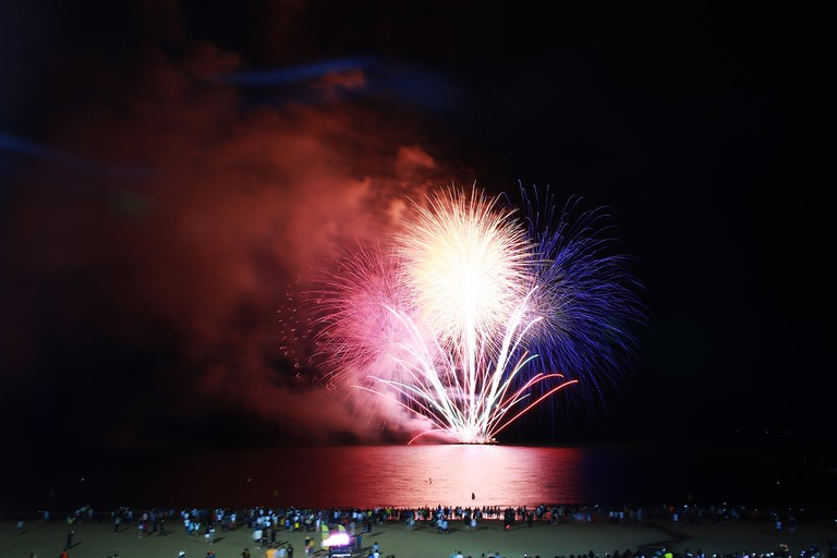 While mud may be the highlight, the event also features fireworks displays and performances