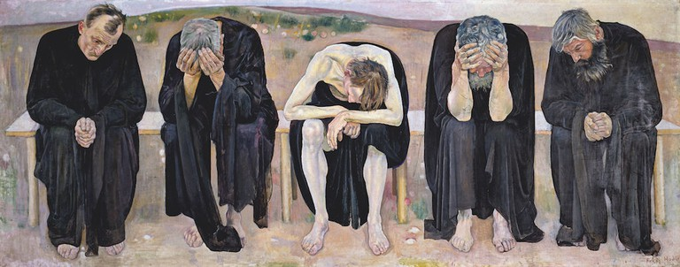 Ferdinand Hodler, The Disappointed Souls (Les âmes déçues), 1892. Kuntsmuseum Bern, Staat Bern. Photo: Courtesy Kuntsmuseum Bern, Staat Bern.
