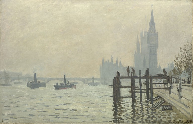Claude Monet, The Thames below Westminster, about 1871 | © The National Gallery, London
