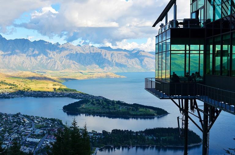View of Queenstown and Lake Wakatipu from Skyline Gondola