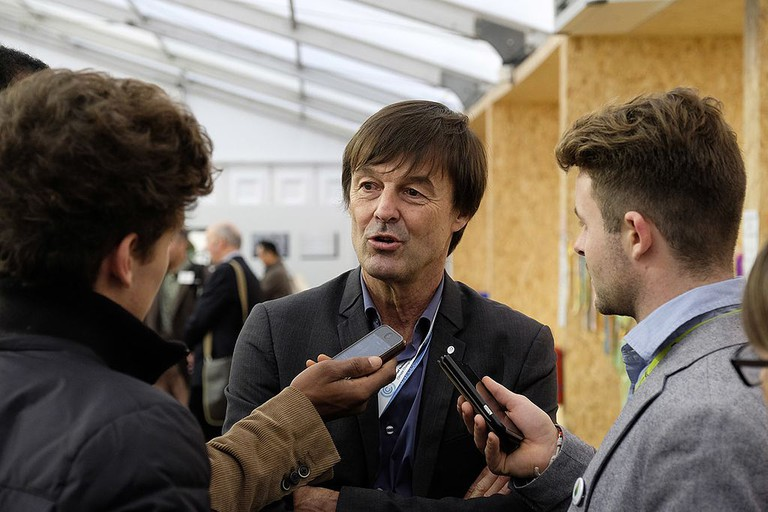 Nicolas Hulot at COP Paris 2015 │© COP PARIS / Wikimedia Commons