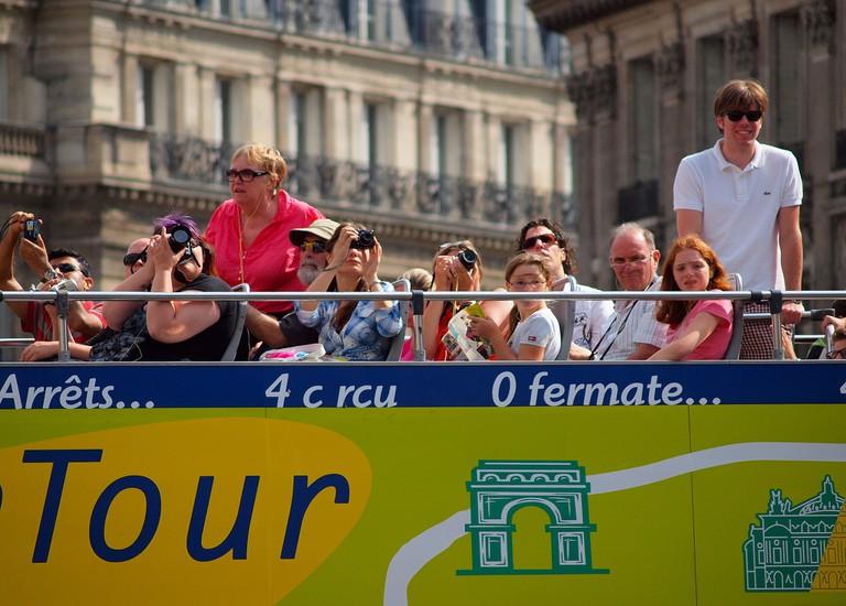 Paris tour bus │