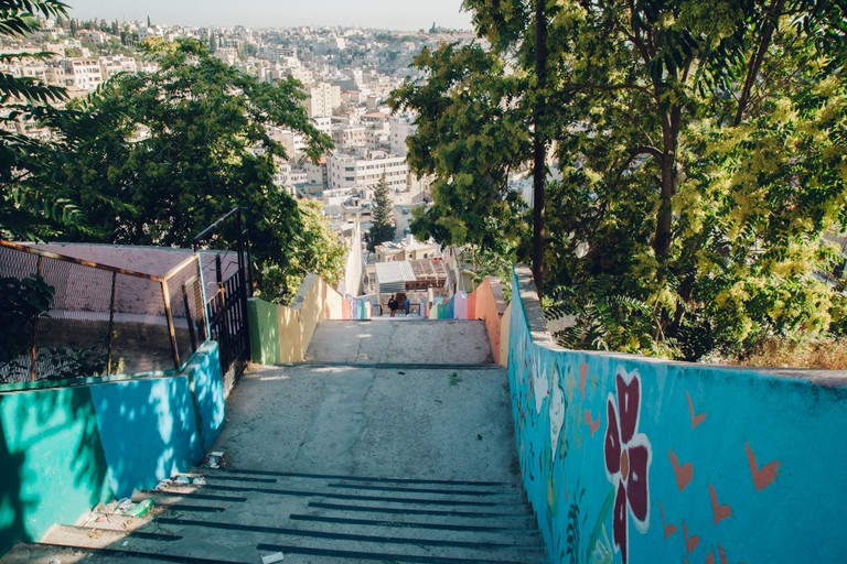 Stairs to downtown