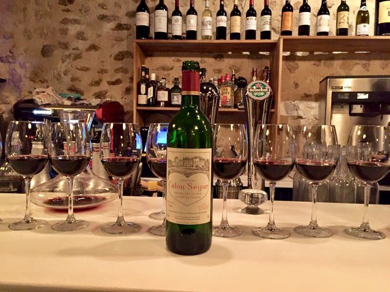 Late night drink at Le Millésime Bordeaux