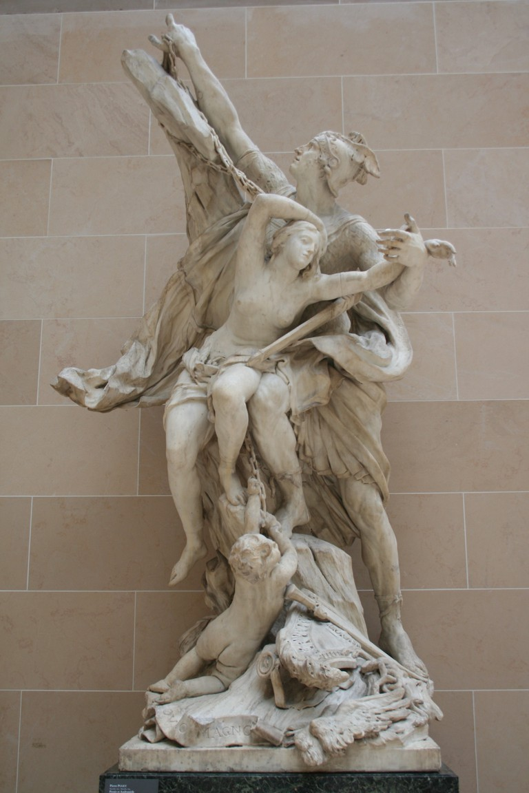 Perseus and Andromeda by Pierre Puget at the Louvre