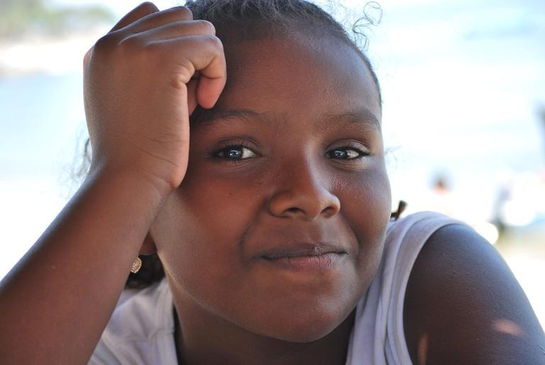 Afro-Mexican girl in Guerrero