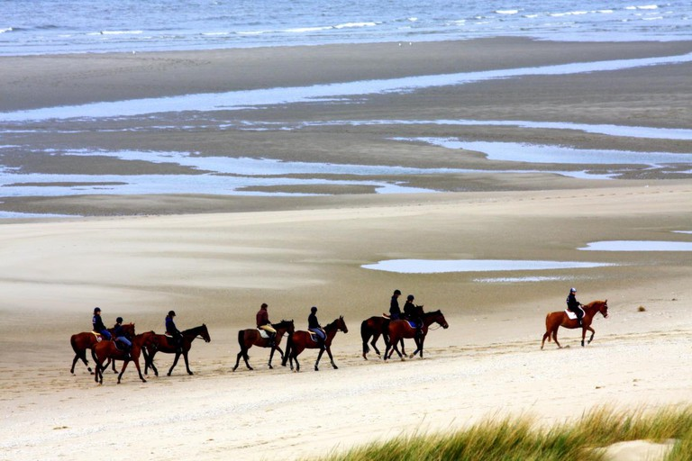 Riding on the beach in Le Touquet