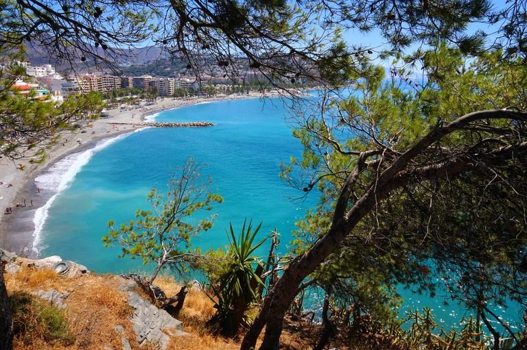 Almuñécar's lovely beaches offer much more space than Nerja's; Encar Novillo