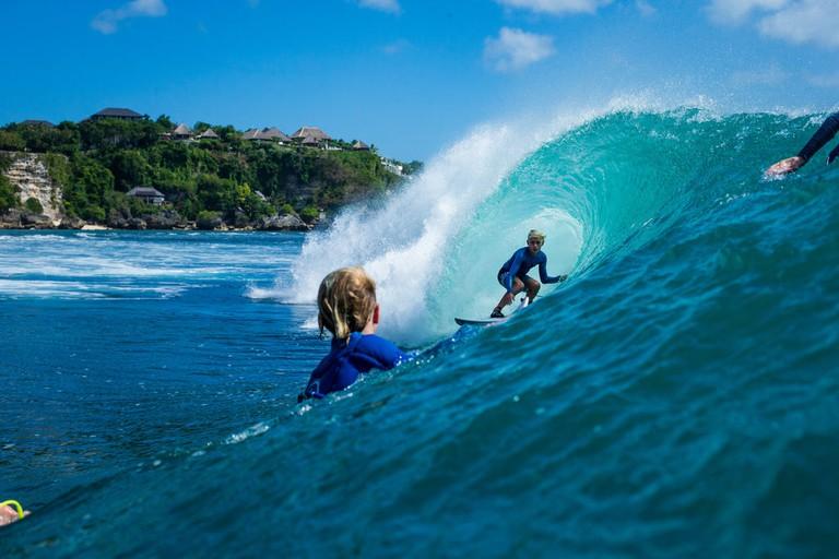 Jarvis Earle, 12, in Bali | © Luke Forgay/Volcom