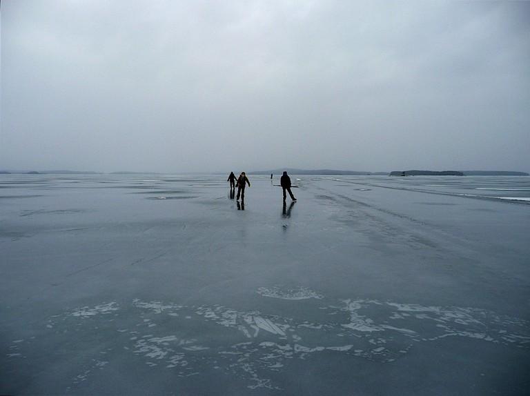 Skate vast swaths of lake