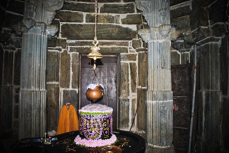 Shivalinga inside temple