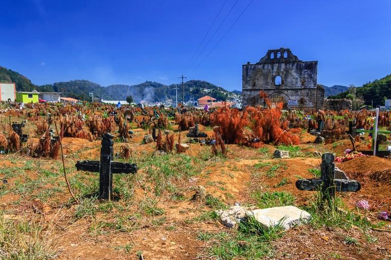 Cemetery in Chamula near San Cristobal de las Casas, Chiapas