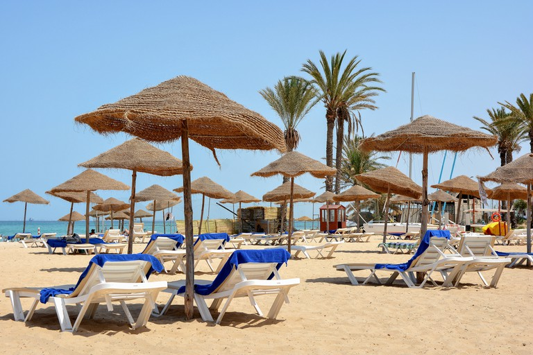 Idyllic Sousse Beach, the scene of a terrorist attack in 2015 which claimed the lives of 38 people