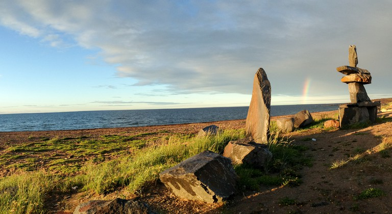View of the Hudson Bay from Churchill, Manitoba