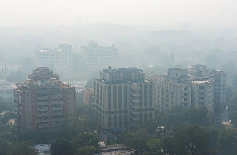 Smog over New Delhi, India