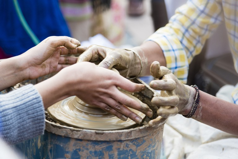 Take your date to a pottery/painting workshop