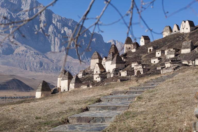 A necropolis near the village of Dargavs, Russia