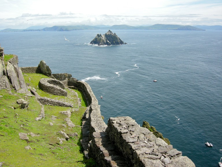 A view of Little Skellig from Skellig Michael