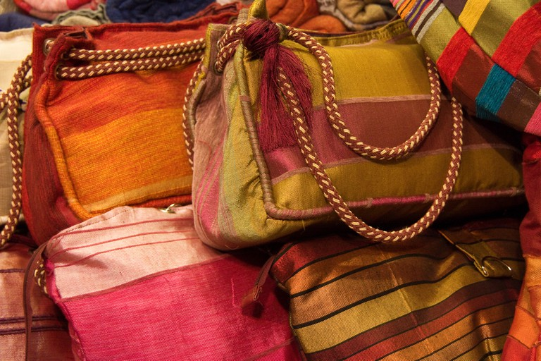 Colourful bags in a souk