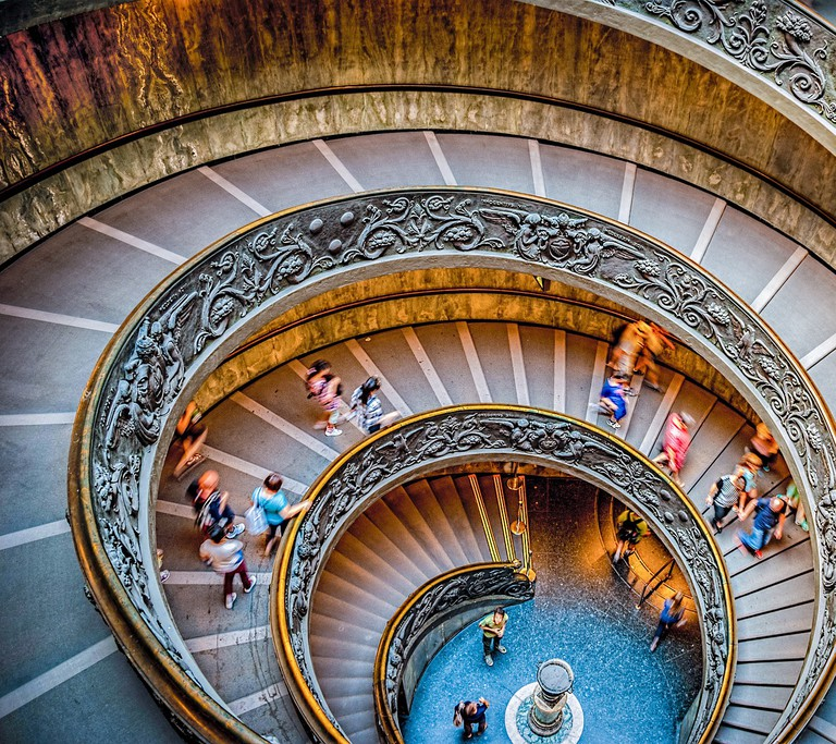 Stairs at the Vatican Museum | Photo by gullah/Pixabay