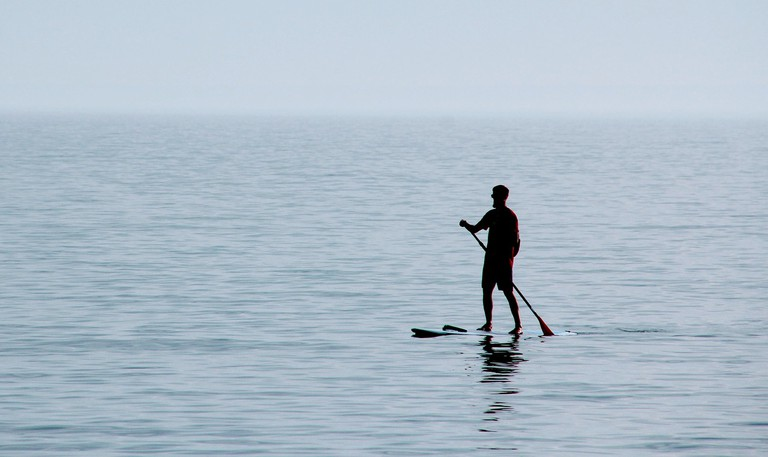 Try SUP, or standup paddleboarding
