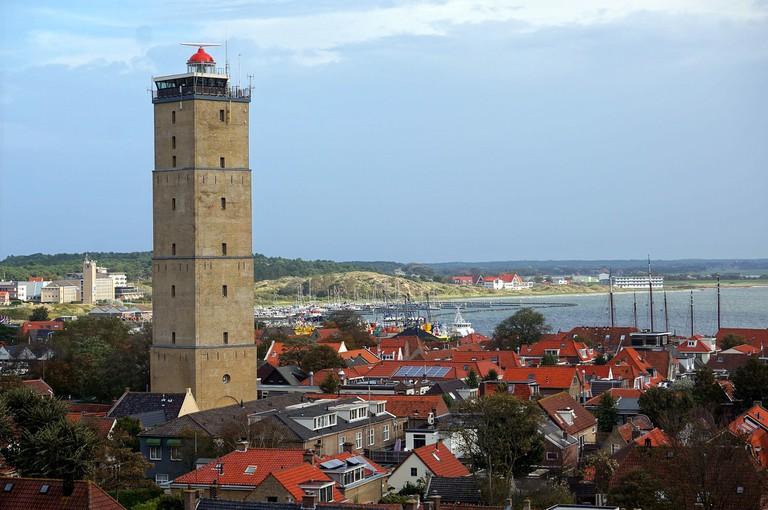 Brandaris lighthouse and West-Terschelling