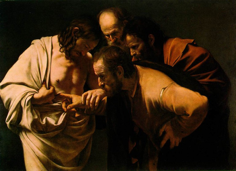 The Incredulity of St. Thomas by Caravaggio
