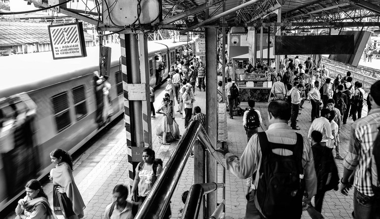 Mumbai Local Train Station