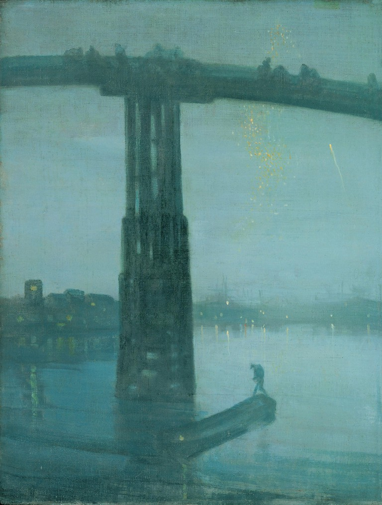 James Abbott McNeill Whistler Nocturne: Blue and Gold: Old Battersea Bridge, 1872-77 | Tate