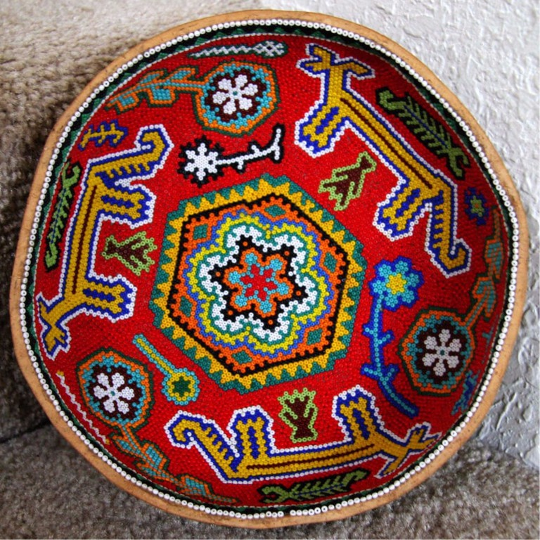 A slightly wonky Huichol bowl