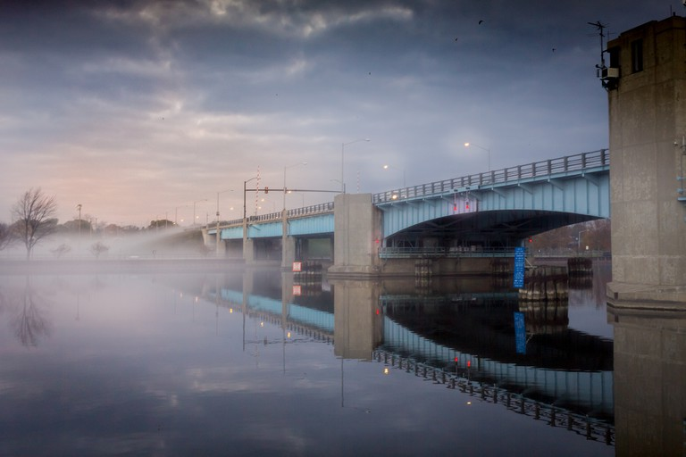 Veternans Memorial Bridge in Bay City, Michigan | © Christian Collins / Flickr