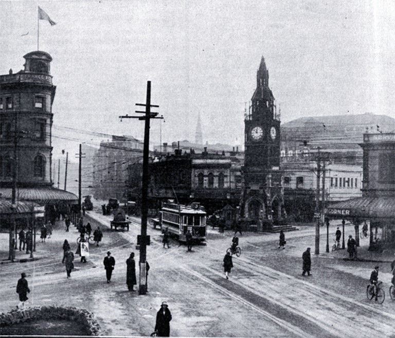The Victoria Clock Tower in the 1920s
