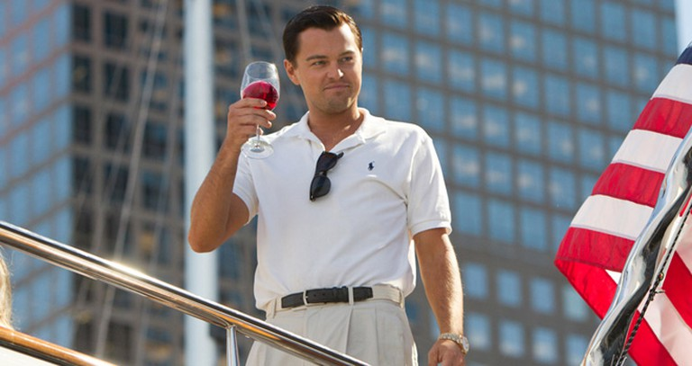 Leonardo DiCaprio in Martin Scorsese's The Wolf of Wall Street (2013)