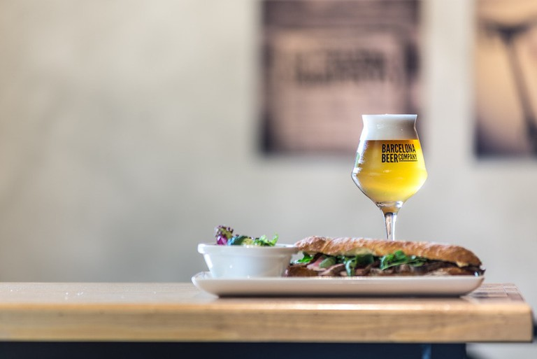 Sandwich and a beer? Photo by Mercè Gost, courtesy of Barcelona Beer Company