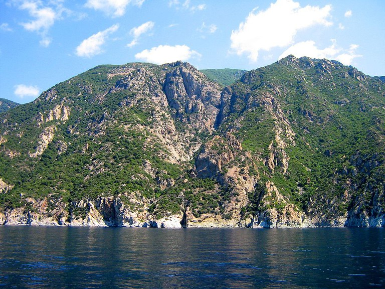 View of Mount Athos from the sea