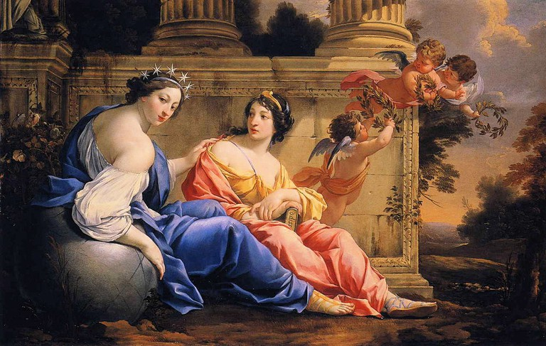The Muses Urania and Calliope (right), by Simon Vouet