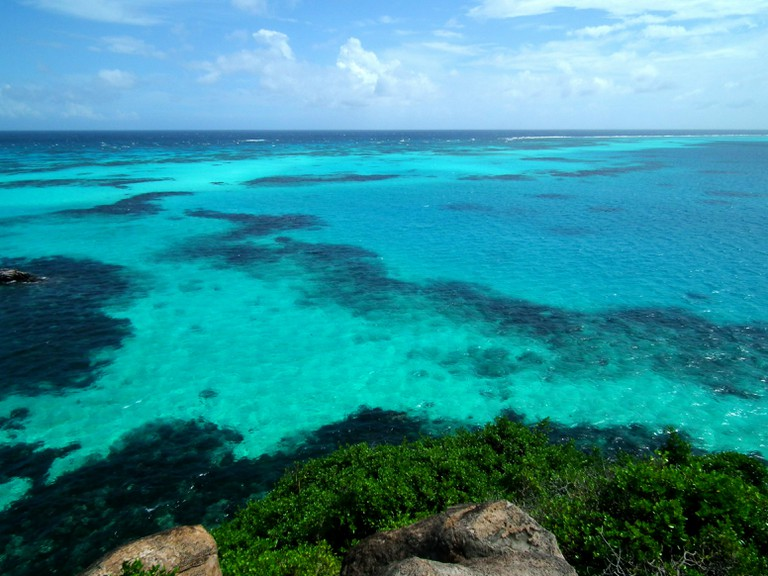 The unbelievable view from Crab Caye