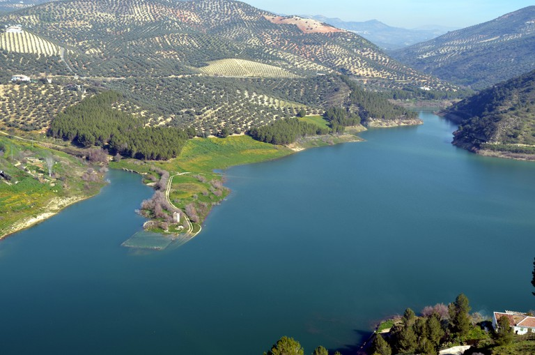 The reservoir at Iznajar