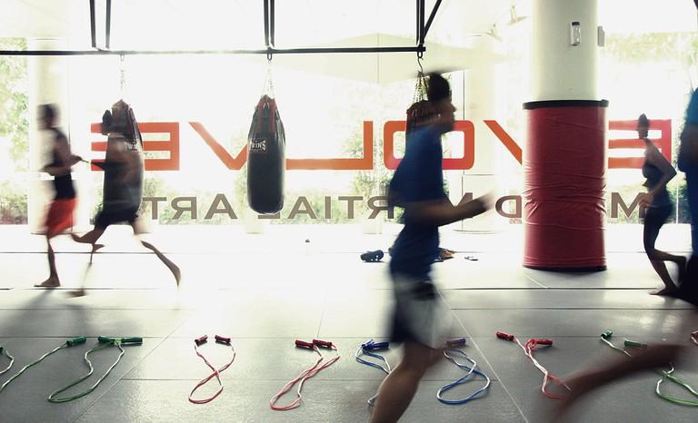 Warm Ups at Evolve MMA